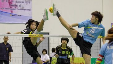 Ratchaburi vs. Roi Et at the net