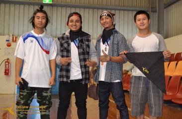 AKO rocking the Takraw Australia Bandanas