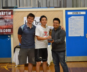 Perth receiving their 2nd place trophy