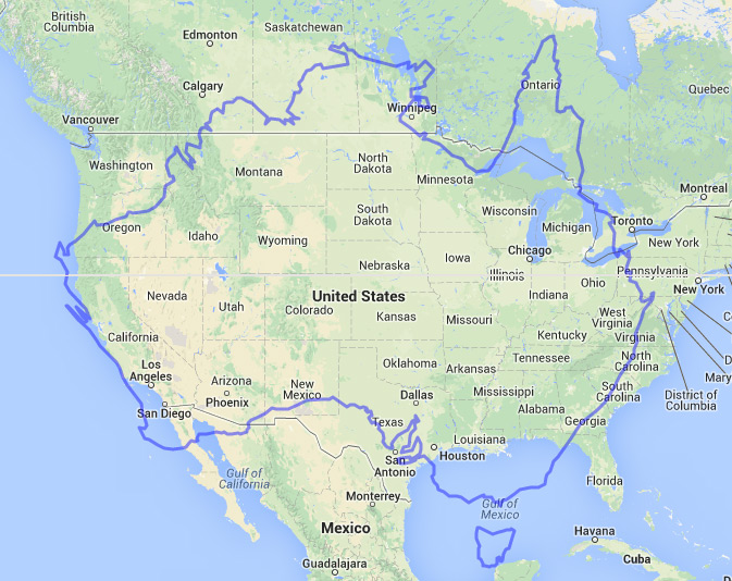 Land area of Australia compared to USA