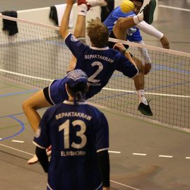 Elmshorn (2) vs Malaysia in the final of the 2014 Swiss Open