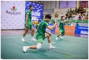 Ratchaburi players celebrating one of their many points won
