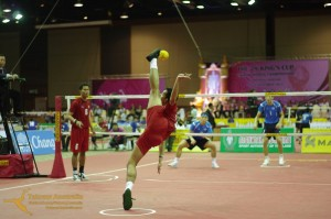Siriwat Sakha Serves for Thailand at the 2013 King's Cup